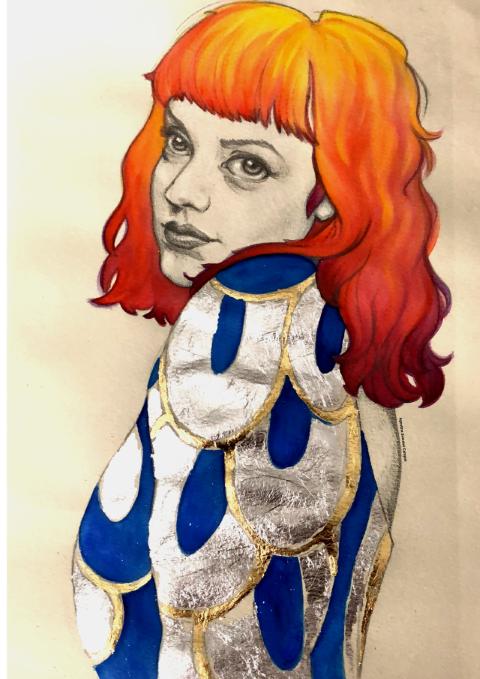 il·lustració noia